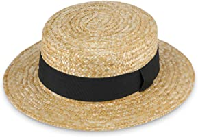 fiebig Sierra Circular Sombrero de Paja Natural | Mujer y Hombre | Sombrero para el Sol Hecho 100% de Paja Sombrero de...
