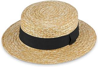 fiebig Cappello da gondoliere Donna e Uomo | Cappello da Sole in 100% Paglia | Boater Made in Italy | Cappello di Paglia p...