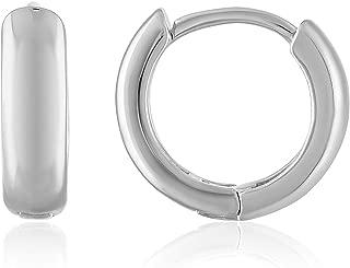 18K Gold Plated Cuff Huggie Small Hoop Earrings for Women