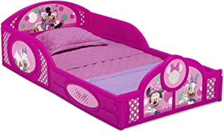 Disney Minnie Mouse Plastic Sleep and Play Toddler Bed with Attached Guardrails by Delta Children