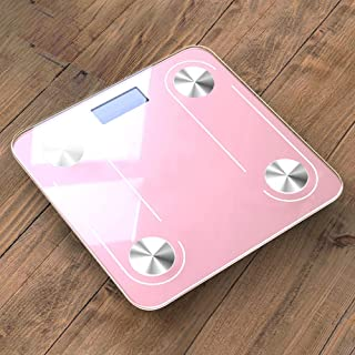 Báscula De Baño Body Smart Weights Scale Electrónica En El Hogar Básculas De Baño Wifi Digital Body Bmi Scale Bluetooth Balance Pink