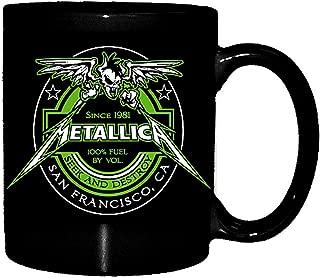 Metallica Mug 100% Fuel Seek And Destroy Crest Official Black