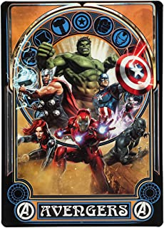 Open Road Brands Marvel Avengers Vintage Tin Metal Wall Art - an Officially Licensed Product Great Addition to Add What You Love to Your Home/Garage Decor
