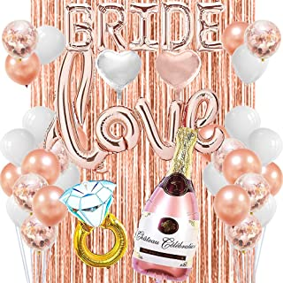 Rose Gold Bachelorette Party Decorations Supplies Rose Gold Bridal Shower Decorations Engagement Party Decorations Bridal Shower Love Balloon Kit Wedding Shower Party Decorations