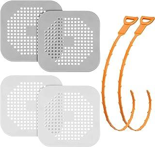 Tub Drain Hair Catcher Bath Stopper Plug Sink Strainer White Orange or White