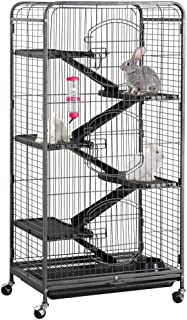 Yaheetech 37/52-inch Metal Ferret Chinchilla Cage Indoor Outdoor Small Animals Hutch with..