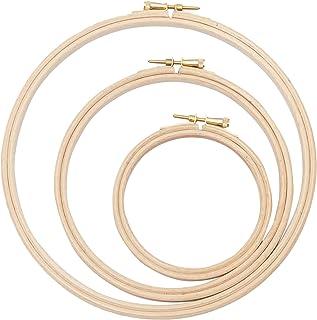 Elbesee Stickerei Ring, Holz, braun, 15/20/25 cm, 3 Stück
