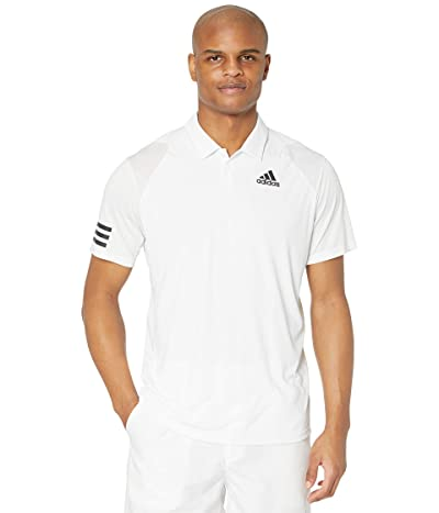 adidas Club 3-Stripes Polo (White/Black 2) Men