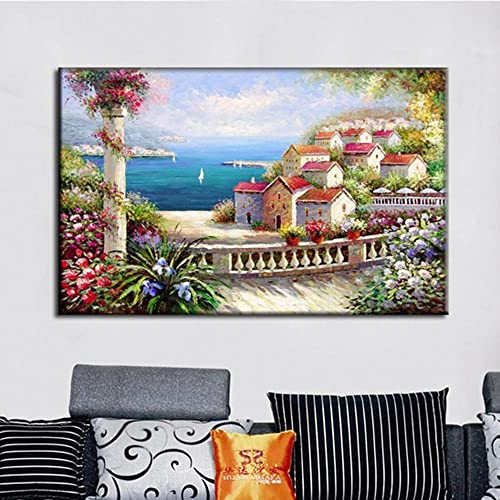 SH Salon Peintures Décoratives Frameless Peintes à la Main Contexte Décoratif Cuisine Chambre Couloir Peintures Décoratives,A-01,60  90cm