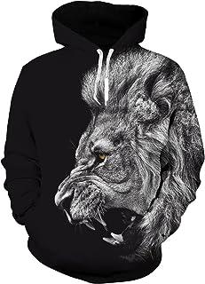 Idgreatim Unisex 3D Printed Drawstring Hoodies Hooded Pullover Sweatshirt Pockets