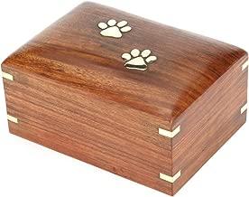 Hind Handicrafts Rosewood Pet Urn Peaceful Pet Memorial Keepsake Urn, Photo Box Cremation Urn for Dogs,Cats, Keepsake Urns for Ashes, Wooden Box Urn (Medium : 7.5