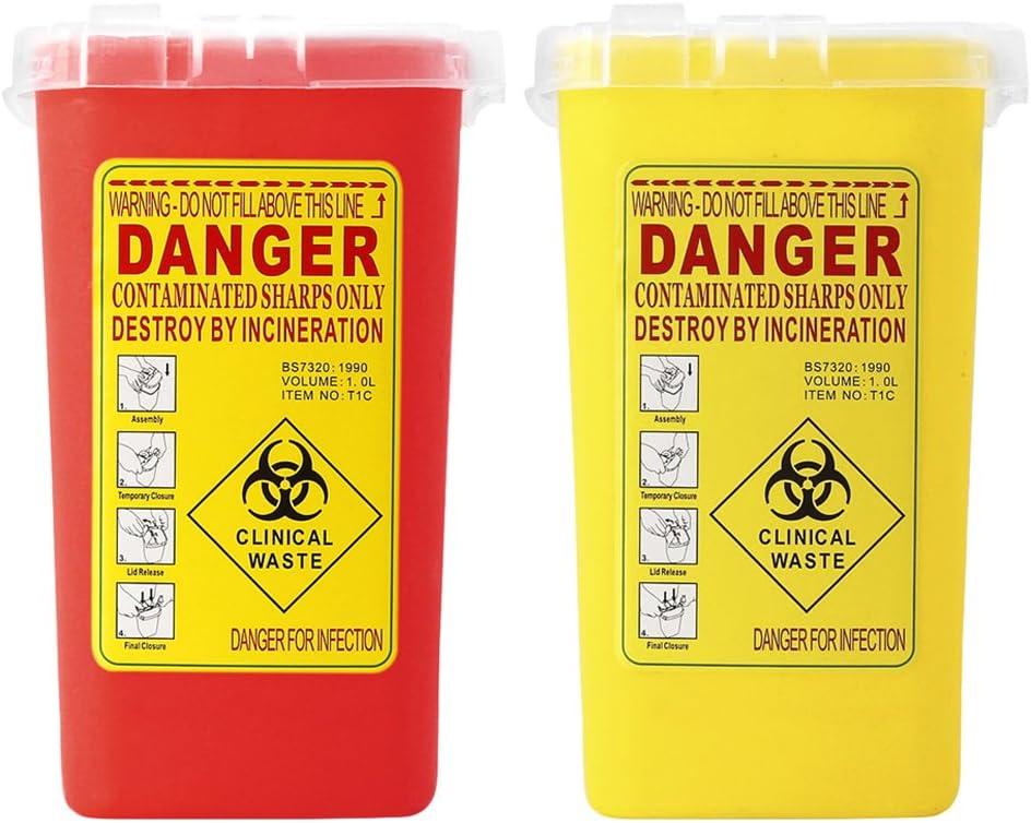 shamjina 2 Packs Sharps Containers Dispo Waste Biohazard Needles Max Max 90% OFF 47% OFF