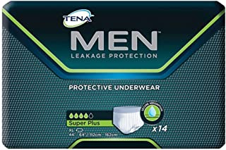 TENA Men Protective Underwear, Super Plus, XL 44-64, Case of 56 by TENA