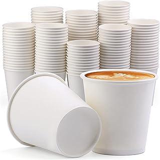 [150 عبوة] أكواب ورقية سعة 340 مل للاستخدام مرة واحدة، أكواب ورقية للقهوة الساخنة اسبريسو وأكواب الحمام القابلة للاستخدام ...