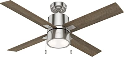 Hunter Fan Company 54214 Beck Ceiling Fan, 52, Brushed Nickel Finish