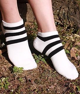Tangheir 春夏 新型 薄い項 ストライプ 船の靴下 女 綿の靴下 日係 淺口 ソックス スリップ