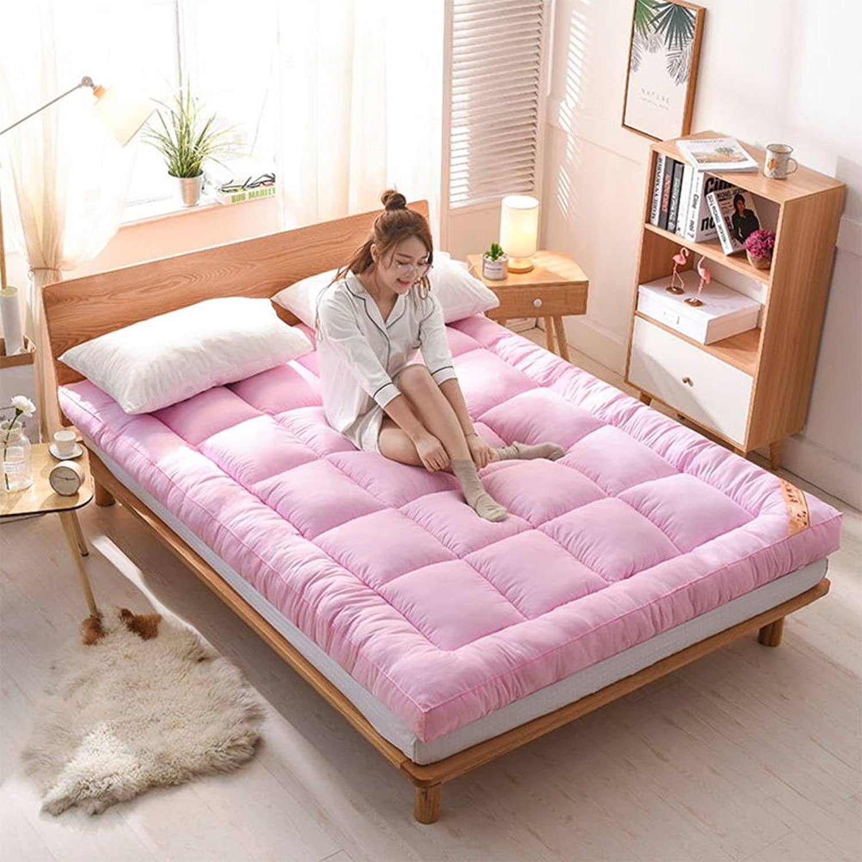 Thick Tatami Floor mat Mattress,Padded Mattress Bed Tweezers Double Padded Quilt Student Dormitory Single Tatami-B 90x200cm(35x79inch)