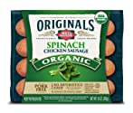 Dietz & Watson Originals Organic Spinach Chicken Sausage, 10 oz