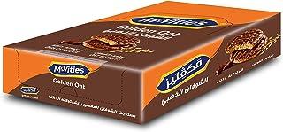 بسكويت شوفان ذهبي مغطى بالشوكولاتة الداكنة من مكفتيز - 12 قطعة