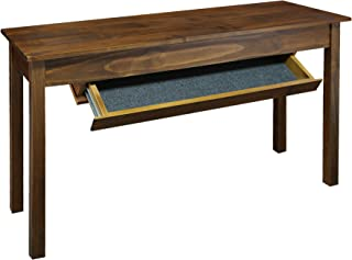Casual Home Kennedy Console Table with Concealed Drawer, Concealment Furniture, Warm Brown