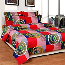 Shree Fashion Hub Cotton 160 TC Bedsheet (Multicolour_Double)