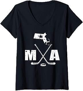 Womens MN Hockey State Of Ice Hockey Minnesota Gift V-Neck T-Shirt
