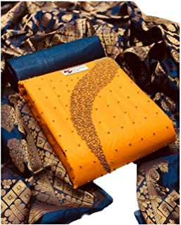 Any Designer Banarasi Dupatta Cotton Khatli Handwork salwar Suit