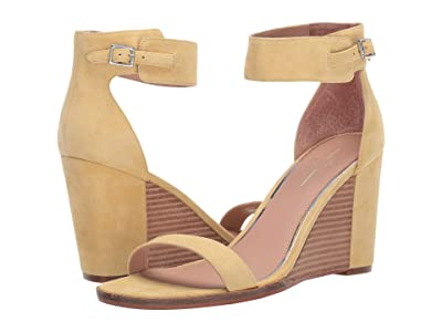 LINEA Paolo Elodie Wedge Sandal (Lemon Suede) Women
