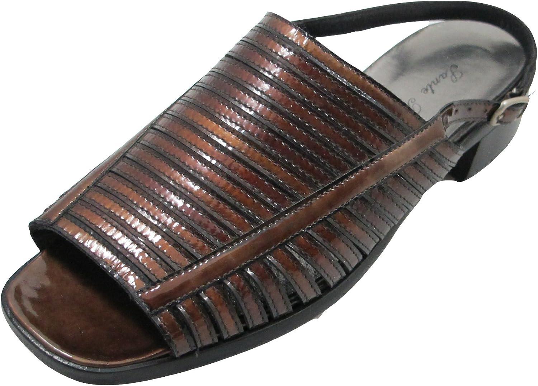 Santa Borella Designer 3713 Women's Italian Leather Open Toe Back Strap Sandal