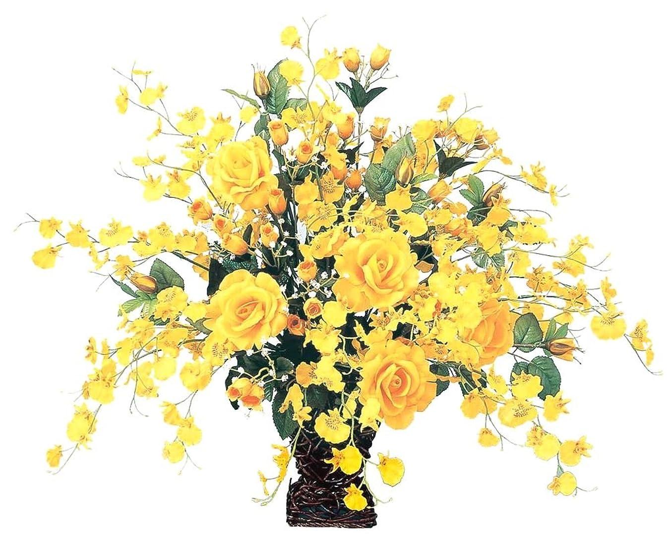 戦術新年合併FLOWER-x/アートフラワー 光触媒 造花 アレンジ ゴールドエース 37A10061