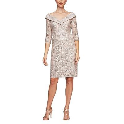 Alex Evenings Off-the-Shoulder Sheath Dress Women