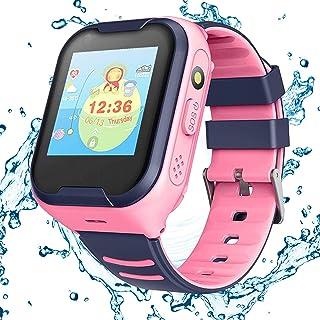 Topchances 4G smartklocka för barn, GPS barn smartklocka telefon videosamtal digitala smarta klockor lokalisering spårare ...