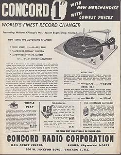 Concord Radio Corporation Electronics Catalog 1950