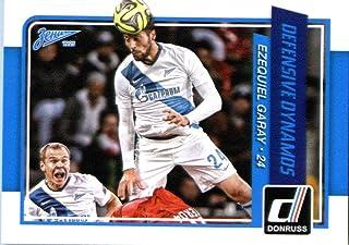 2015 Donruss Defensive Dynamos #2 Ezequiel Garay Zenit St. Petersburg Soccer Card