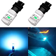 Alla Lighting 3800lm T25 3156 3157 Ice Blue LED Bulbs Xtreme Super Bright 3457 3056 4114 3157 LED Bulb ETI 56-SMD 8000K LED 3157 Bulb for Cars Trucks SUVs Turn Signal Daytime Running DRL Lights (2pc)