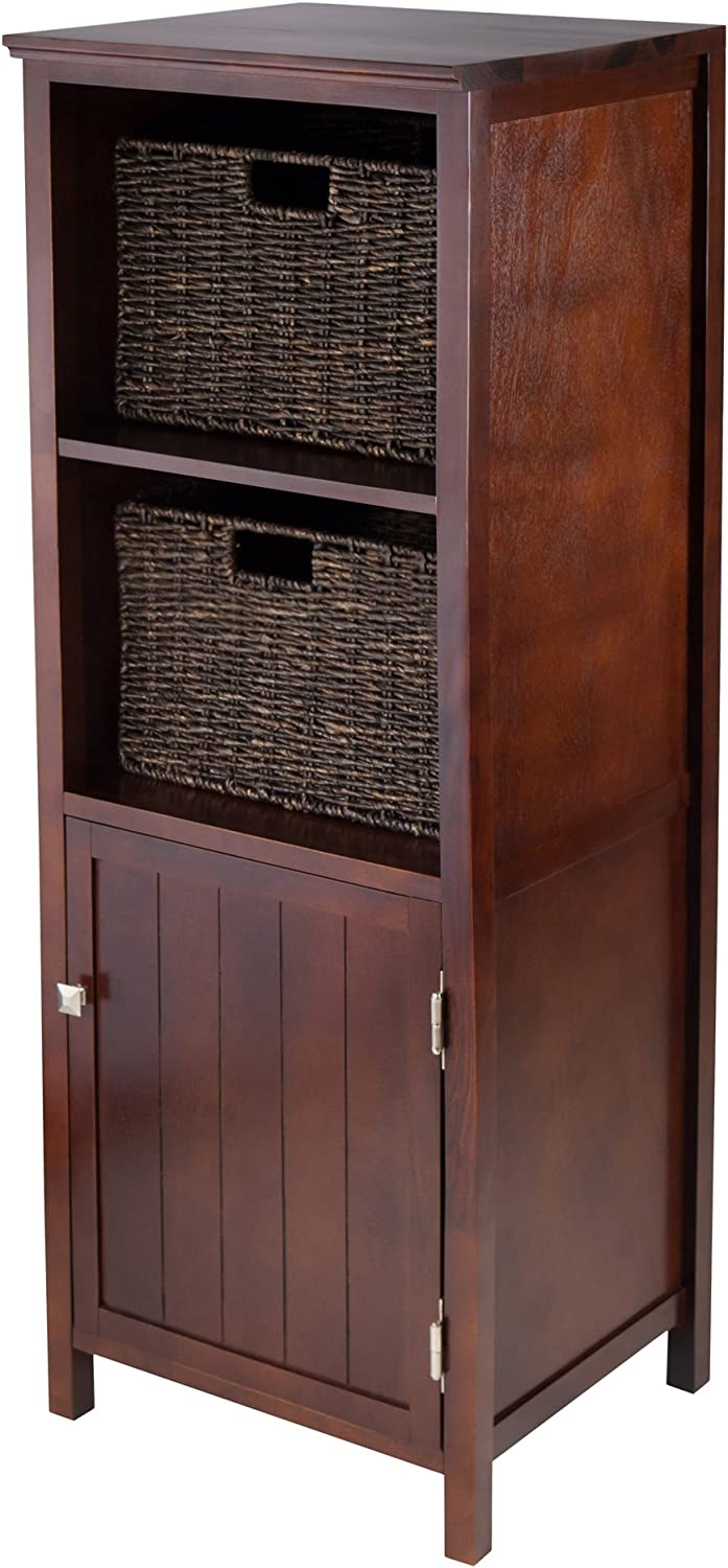 Winsome Wood 3-Piece Brooke Jelly Cupboard with 2 Baskets