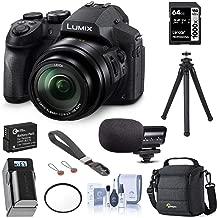 Panasonic Lumix DMC-FZ300 Digital Camera, 12.1 Megapixel, 1/2.3-inch Sensor, 4K Video, 24X Zoom Lens F2.8 Bundle with Bag, Mic, Wrist Strap, Battery, Charger, 64GB SD Card, UFO 2 Tripod + More