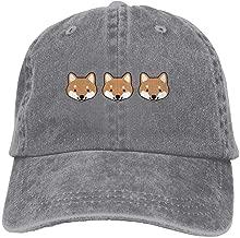 TOGEFRIEND Shiba Inu FacesAdjustable Unisex Baseball Cap Snapback Hat Cotton Denim Cap