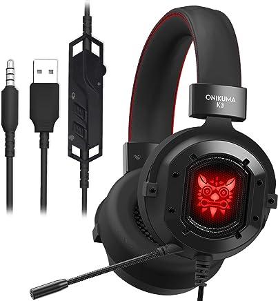 FengHeHaiLang Cuffie da Gioco con Auricolari Over-Ear con Microfono da 3,5 mm, con Illuminazione LED per Controllo Volume per Xbox One / / PC - Trova i prezzi più bassi