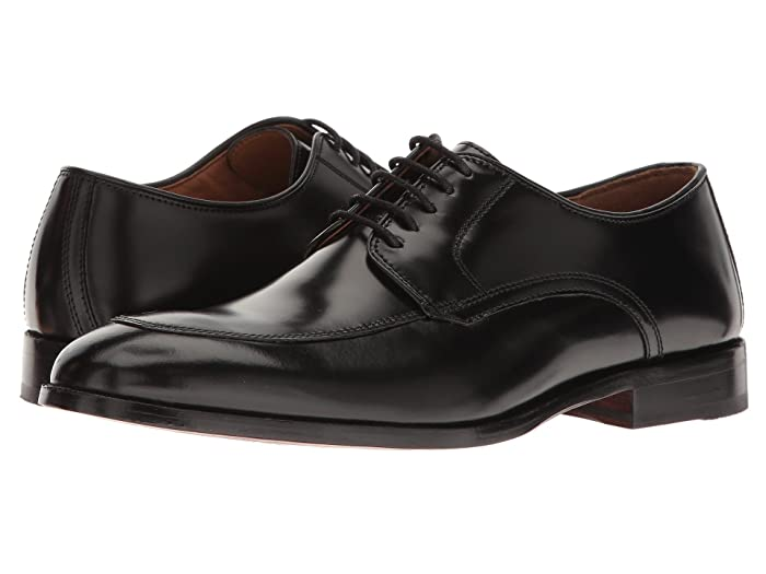 Johnston and Murphy  Bradford Dress Moc Oxford (Black Brush-Off) Mens Lace Up Moc Toe Shoes