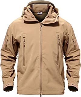 Army Camouflage Men Jacket Coat Military Tactical Jacket Waterproof Soft Shell Jackets Windbreaker Hunt Clothes,Sand,4XL