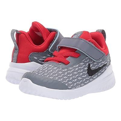 Nike Kids Rival (Infant/Toddler) (Cool Grey/Black/Red Orbit) Boys Shoes
