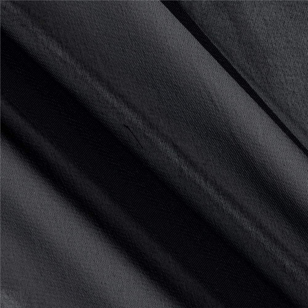 Chiffon Solid Black Fabric Limited time trial price Cheap mail order sales the Yard by