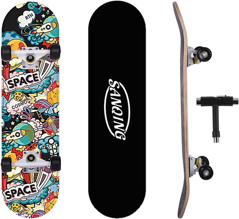 Detroit Mall SanQing Skateboard Complete for Girls Boys shop Kids Youth
