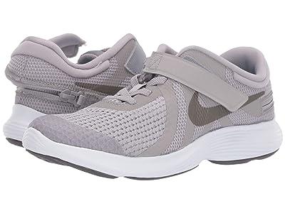 Nike Kids FlyEase Revolution 4 (Big Kid) (Atmosphere Grey/Metallic Pewter/Thunder Grey) Kids Shoes