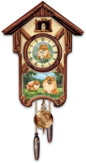 The Bradford Exchange Linda Picken Pretty Pomeranians Cuckoo Clock