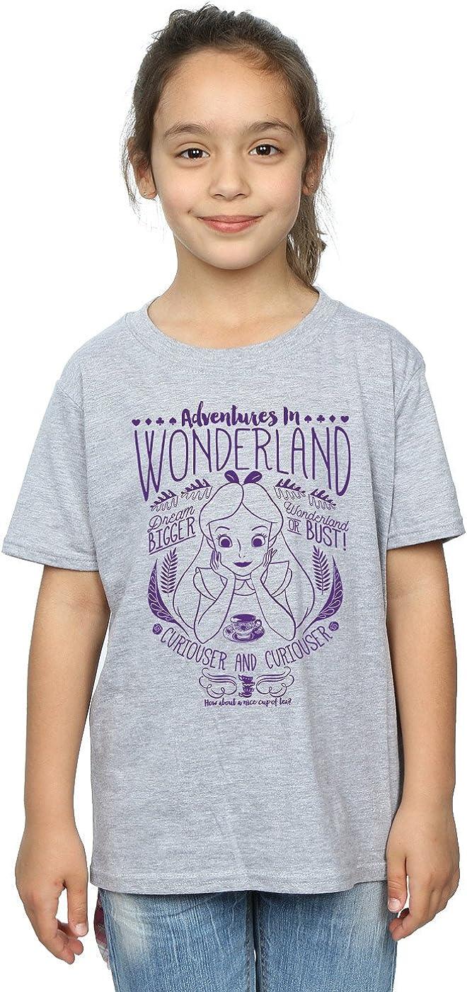 Disney Girls Alice in Wonderland Adventures T-Shirt 9-11 Years Sport Grey