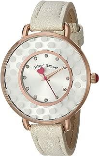 Betsey Johnson Subtle and Sleek Watch - 37217395WHT100 White One Size