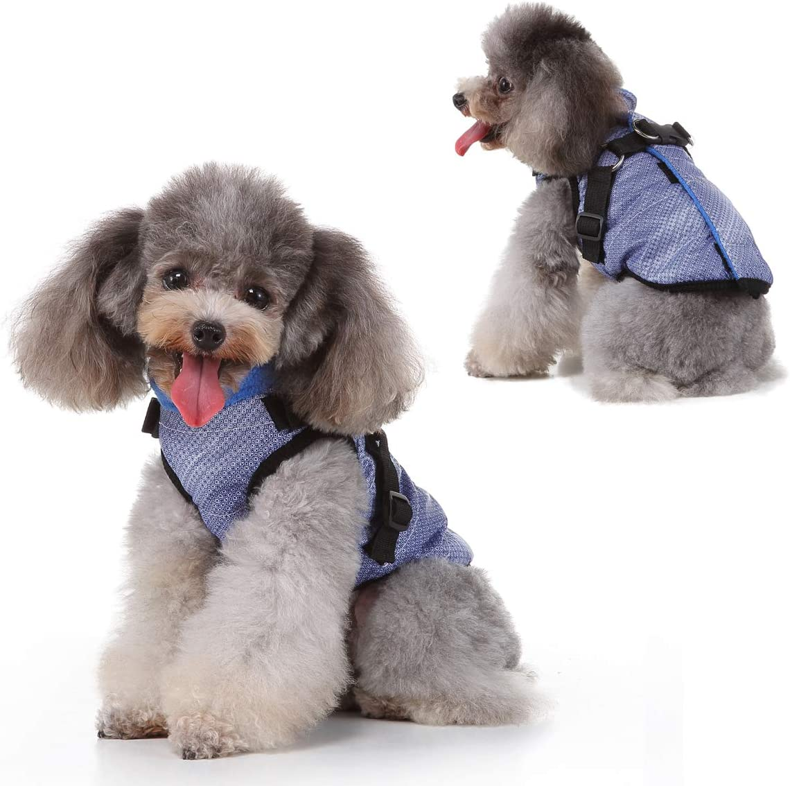 Max 49% OFF Huret Cold Weather Dog Coats Winter Harness Fleece Ves with Regular store