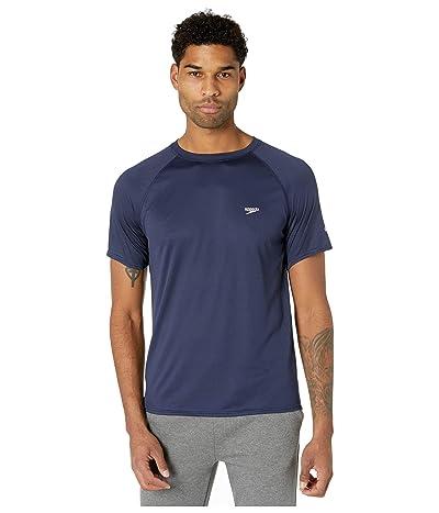 Speedo Easy Short Sleeve Swim Shirt (Peacoat) Men